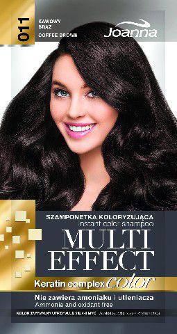 Joanna Multi Effect Color Keratin Complex Szamponetka 11 Kawowy Brąz  35 g