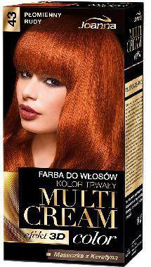 Joanna Multi Cream Color Farba nr 43 Płomienny Rudy