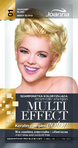 Joanna Multi Effect Color Keratin Complex Szamponetka 01 Piaskowy blond  35 g