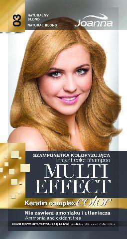 Joanna Multi Effect Color Keratin Complex Szamponetka 03 Naturalny Blond  35 g