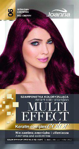 Joanna Multi Effect Color Keratin Complex Szamponetka 06 Wiśniowa Czerwień  35 g