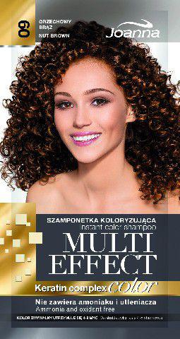 Joanna Multi Effect Color Keratin Complex Szamponetka 09 Orzechowy Brąz  35g - 525609