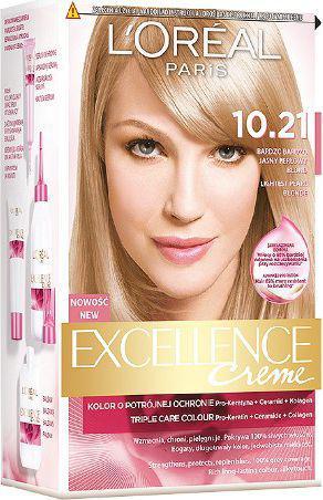 L´Oreal Paris Excellence Creme farba do włosów 10.21 Bardzo Jasny Perłowy Blond (3600010022633)
