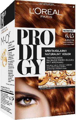 L´Oreal Paris Prodigy 5 Farba do włosów 6.45 Bursztyn-ciemny miedziano-mahoniowy