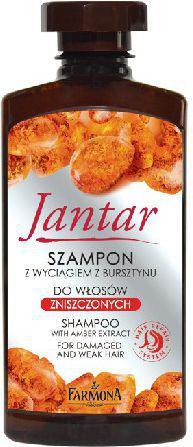 Farmona Jantar Szampon z wyciągiem bursztynu i witaminami do włosów zniszczonych 330 ml