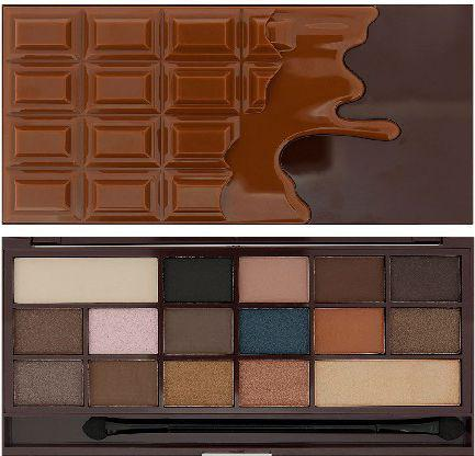 Makeup Revolution I Heart Make Up Palette Zestaw cieni do powiek Chocolate Salted Caramel (16 kolorów) 22g