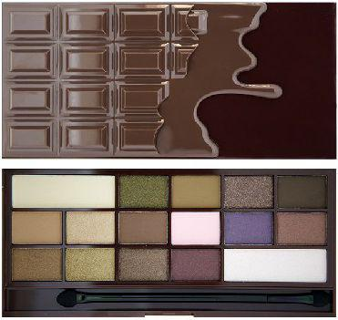 Makeup Revolution I Love Make Up Palette Zestaw cieni do powiek I Heart Chocolate (16 kolorów) 22g