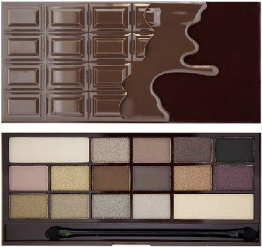 Makeup Revolution I Love Make Up Palette Zestaw cieni do powiek Death by Chocolate   (16 kolorów) 22g