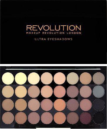 Makeup Revolution Ultra Palette 32 Zestaw cieni do powiek Flawless Matte   (32 kolory) 16g