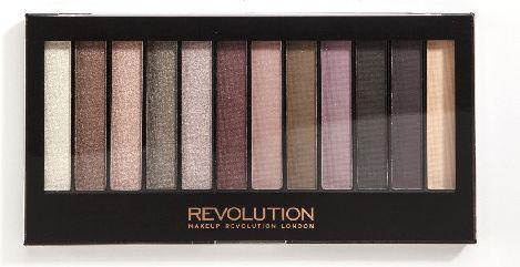 Makeup Revolution Redemption Palette 12 Zestaw cieni do powiek Romantic Smoked  (12 kolorów) 14g