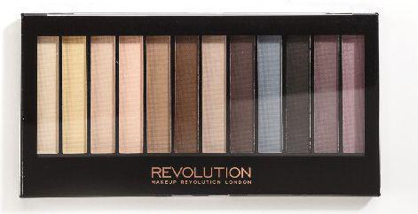 Makeup Revolution Redemption Palette 12 Zestaw cieni do powiek Essential Mattes   14g (12 kolorów)