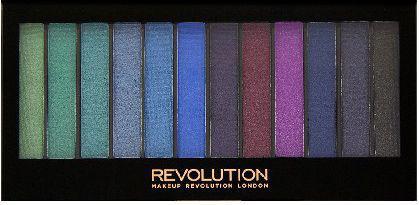 Makeup Revolution Redemption Palette 12 Zestaw cieni do powiek Mermaids vs Unicorns  14g (12 kolorów)