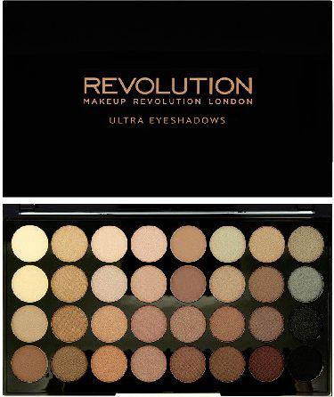 Makeup Revolution Ultra Palette 32 Zestaw cieni do powiek Beyond Flawless  (32 kolory) 16g