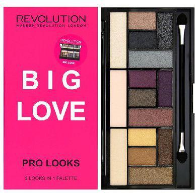 Makeup Revolution Pro Looks Palette 15 Zestaw cieni do powiek Big Love (15 kolorów) 13g
