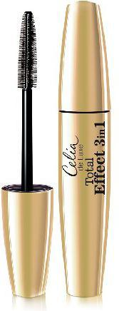 Celia De Luxe  Mascara Total Effect 3in1 czarna  12ml