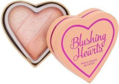 Makeup Revolution Blushing Hearts Róż Peachy Pink Kisses  10g