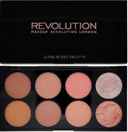 Makeup Revolution Ultra Blush Palette 8 Zestaw róży do policzków Hot Spice 13g