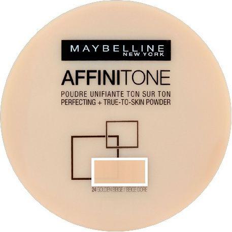 Maybelline  Affinitone Puder w kamieniu nr 24 golden beige  9g