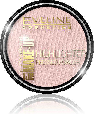 Eveline Art Professional Make-up Puder prasowany rozświetlający nr 54 Rose 14g