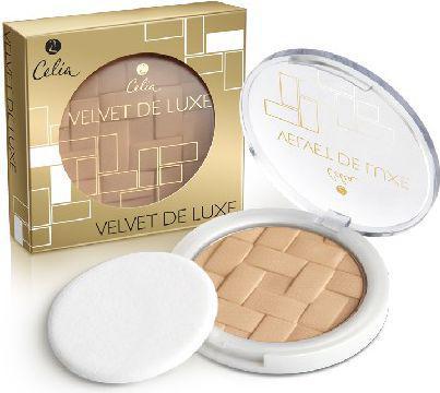 Celia Puder prasowany Velvet de Luxe nr 101 transparent beige