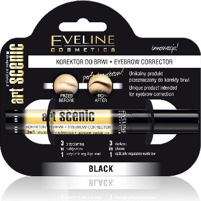 Eveline Art Scenic Korektor do brwi 3w1 czarny  10ml