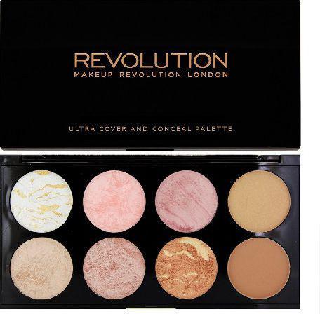 Makeup Revolution Blush Palette 8 Zestaw róży,bronzerów i rozświetlaczy Golden Sugar  13g