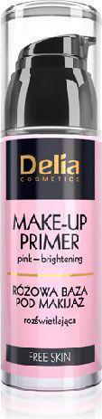 Delia Free Skin Baza pod makijaż różowa rozświetlająca 35ml