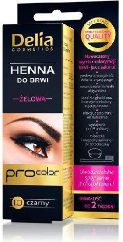 Delia Henna do brwi żelowa 1.0 czarna