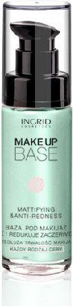 INGRID Make Up Base Baza pod makijaż matująca i redukująca zaczerwienienia  30ml
