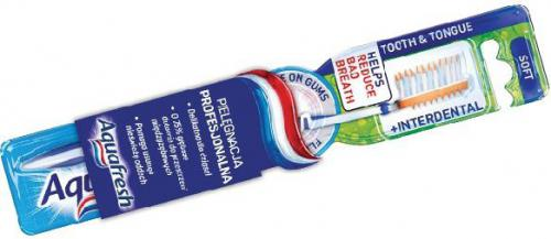 Aquafresh  Szczoteczka Tooth & Tongue Interdental Soft