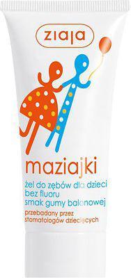 Ziaja Maziajki żel do zębów dla dzieci smak gumy balonowej 50 ml