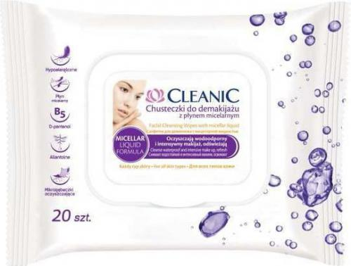 Cleanic Chusteczki do demakijażu z płynem miceralnym  1 op.-20szt