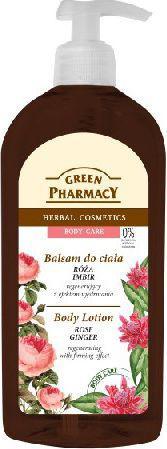 Green Pharmacy  Balsam do ciała regenerujący Róża i Imbir  500ml - 813408