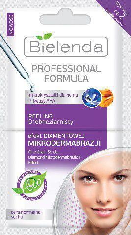 Bielenda Professional Formula Maseczka peeling drobnoziarnisty Efekt Diamentowej mikrodermabrazji  5g x 2