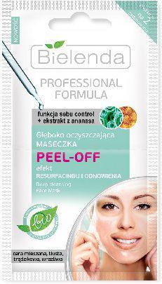 Bielenda Professional Formula Maseczka Peel-Off oczyszczająca  2 x 5g