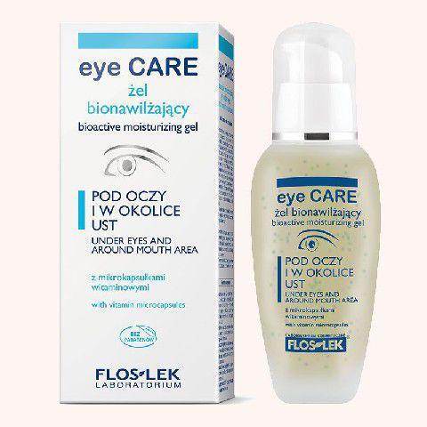 FLOSLEK Pielęgnacja oczu Żel bionawilżający z mikrokapsułkami wygładzający zmarszczki 30 ml