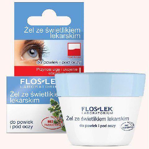 FLOSLEK Pielęgnacja oczu Żel ze świetlikiem do powiek słoik 10g