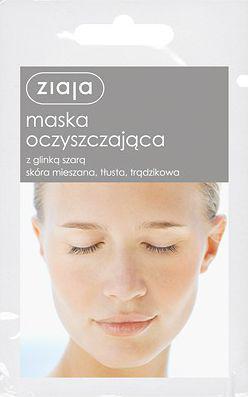 Ziaja Maska do twarzy oczyszczająca z glinką szarą   7ml