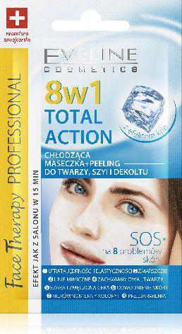 Eveline Face Therapy Total Action 8w1 Maseczka chłodząco-peelingująca  7ml