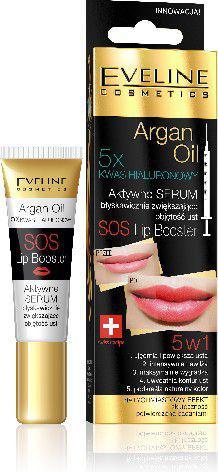 Eveline Argan Oil Aktywne serum zwiększające objętość ust SOS Lip Booster 5w1  12ml