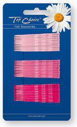TOP CHOICE Wsuwki do włosów różowe 30szt 23743