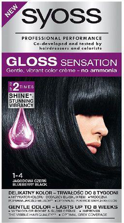 Syoss Gloss Sensation Farba do włosów 1-4 Jagodowa Czerń