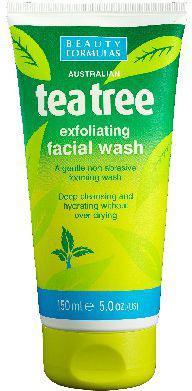 Beauty Formulas Tea Tree Żel złuszczający do mycia twarzy  150ml