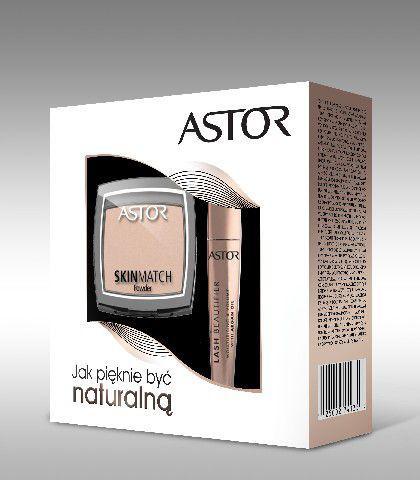 Astor  Zestaw prezentowy (tusz Lash Beautfier + puder skin match 100)
