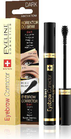 Eveline Eyebrow Corrector Korektor do brwi 5w1 Dark  9ml