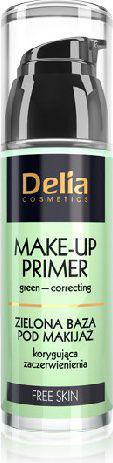 Delia Cosmetics Free Skin Baza pod makijaż zielona korygująca zaczerwienienia 35ml
