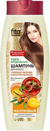 Fitocosmetics Szampon Żółtkowy włosy farbowane 450 ml