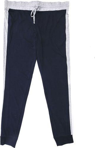 Pepco PEPCO Męskie, szaro-czarne, długie spodnie od piżamy XXL