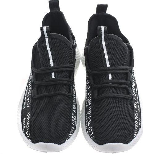 Pepco PEPCO Chłopięce, czarne buty sportowe 36