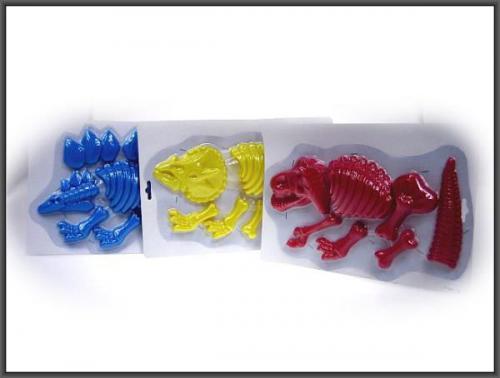 Hipo Foremki do piasku Dinozaur 31cm 3kol. - H12131